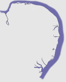 Norfolk & Suffolk map
